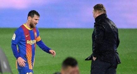 Koeman espera que Messi continue no clube