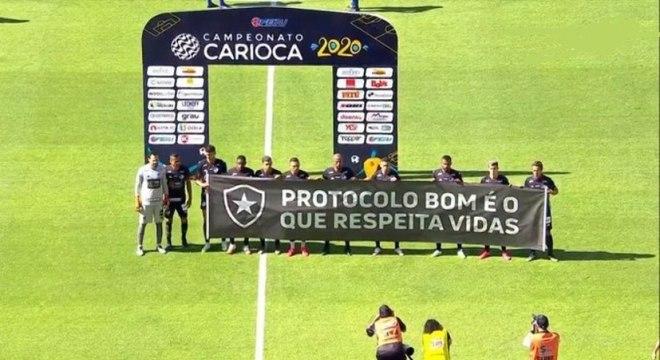 Botafogo entrou em campo contrariado