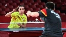 Hugo Calderano sofre virada de alemão e é eliminado da Olimpíada