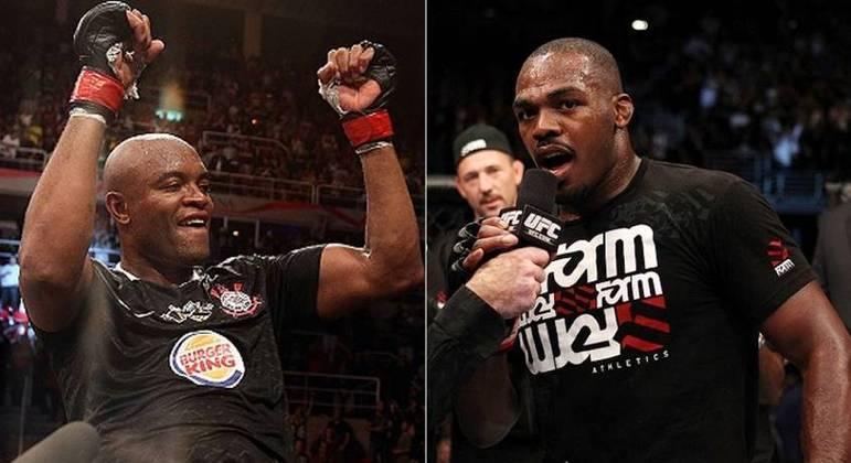 Anderson Silva e Jon Jones são duas verdadeiras lendas do MMA