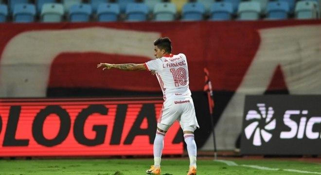 Leandro Fernández abriu placar para Internacional ainda no primeiro tempo