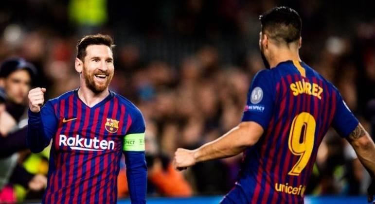 Messi foi companheiro de Suarez no Barcelona