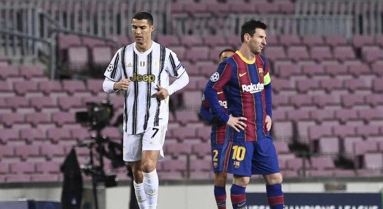 Cristiano Ronaldo e Messi são os dois grandes craques dos últimos anos