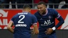 Na estreia de Messi, Mbappé marca duas vezes e PSG vence o Reims