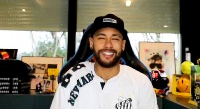 Santista, Neymar brincou com Gabriel Jesus, ídolo da torcida palmeirense