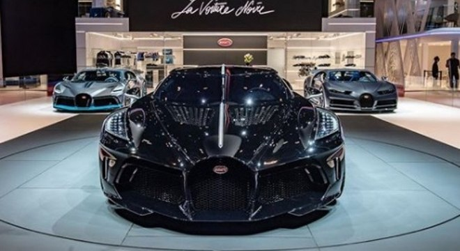 """Modelo faz parte da coleção """"La Voiture Noire"""" da Bugatti"""
