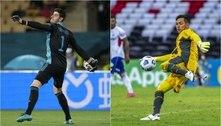 Courtois diz como seria um 'goleiro perfeito' e elege Diego Alves como o pegador de pênaltis