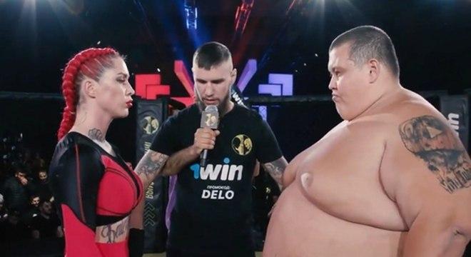 Grigori tem quase quatro vezes o peso de Darina