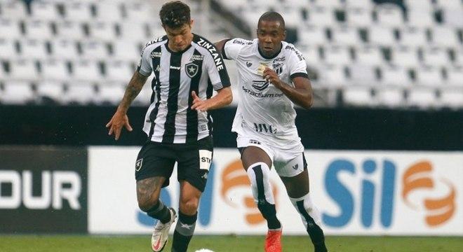 Botafogo e Ceará empatam por 2 a 2 pela 19ª rodada do Brasileiro