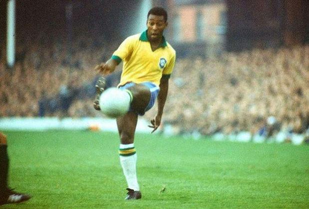 7 – Pelé - O Atleta do Século teve 77 gols em 92 jogos com a camisa da Seleção Brasileira. O ranking segue critérios da Fifa, pois a CBF contabiliza 95 gols