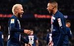 PSG - O time entrou em campo sem sete jogadores importantes e perdeu para o Lens, por 1 a 0, pela segunda rodada do Campeonato Francês. Entre os jogadores infectados, estavam Neymar e Mbappé