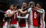 Equipe holandesa, o Ajax de Antony e David Neres está com266 pontos - 36 participações - 228 jogos - 4 títulos
