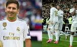 Real Madrid - Courtois, Carvajal, Varane, Éder Militão, Mendy; Casemiro, Modric, Kroos, Messi, Hazard e Benzema. Técnico: Zinédine Zidane