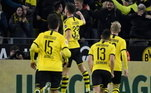 Borussia Dortmund - Bürki, Meunier, Hummels, Akanji, Schmelzer; Witsel, Delaney, Raphaël Guerreiro; Messi, Sancho, Haaland. Técnico: Lucien Favre
