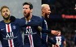 Paris Saint-Germain - Navas, Kehrer, Marquinhos, Kimpembe, Kurzawa; Paredes, Herrera; Messi, Neymar, Di Maria; Mbappé. Técnico: Thomas Tuchel