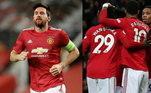 Manchester United - De Gea, Wan-Bissaka, Lindelöf, Maguire, Williams; Pogba, Bruno Fernandes, Greenwood; Messi, Martial e Rashford. Técnico: Solskjaer