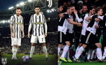 Juventus - Szczesny, Cuadrado, De Ligt, Bonucci, Alex Sandro, Arthur, Bentancur, Bernardeschi; Dybala, Messi e Cristiano Ronaldo. Técnico: Andrea Pirlo