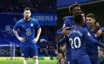 Chelsea - Caballero, James, Christensen, Zouma, Emerson; Kanté, Kovacic, Barkley, Ziyech, Messi; Timo Werner. Técnico: Frank Lampard
