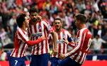 Atlético de Madrid - Oblak, Trippier, Savic, Felipe, Renan Lodi; Koke, Thomas, Saúl; Messi, João Félix, Diego Costa. Técnico: Diego Simeone