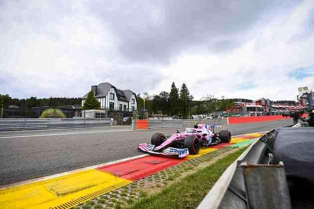 Lance Stroll em ação no veloz circuito de Spa-Francorchamps