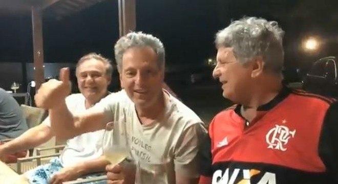Landim prometendo que o Flamengo 'ganhará tudo' em 2019. Será cobrado