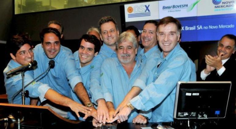 Landim, no centro, foi o braço direto do empresário Eike Batista