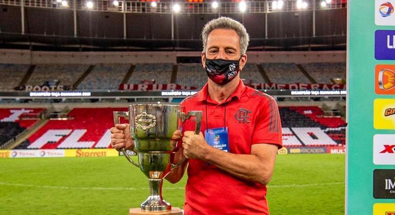 Rodolfo Landim vem enfileirando taças desde que virou presidente do Flamengo