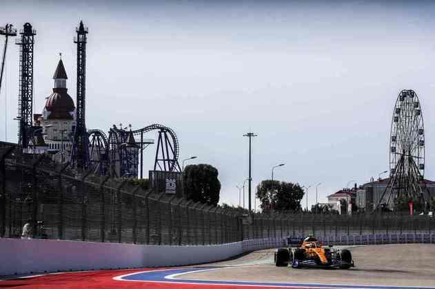 Lando Norris acelera nos treinos livres do GP da Rússia