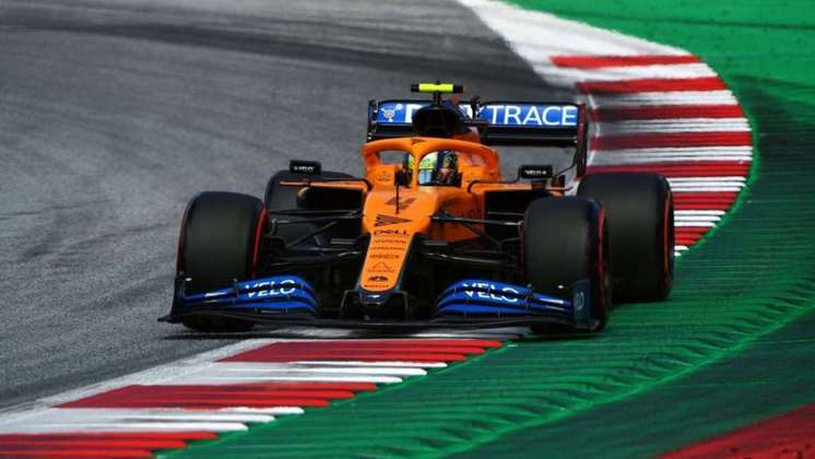 Lando Norris admitiu ter ficado surpreso e não esperava tamanho desempenho da McLaren - ficou no quarto posto