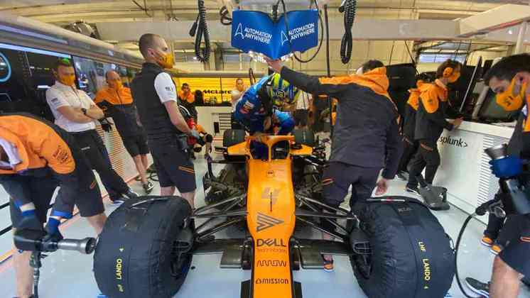Lando Norris conseguiu o primeiro pódio na Fórmula 1 na semana passada