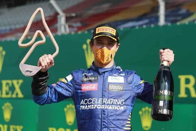 Lando Norris, da McLaren, foi ao pódio na Áustria.