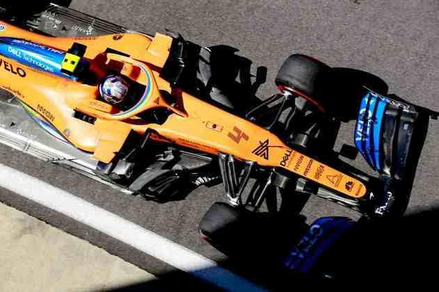 Lando Norris foi o oitavo mais rápido na sexta-feira de treinos em Silverstone