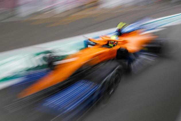 Lando Norris foi o sétimo colocado na sexta-feira de treinos para o GP da Bélgica