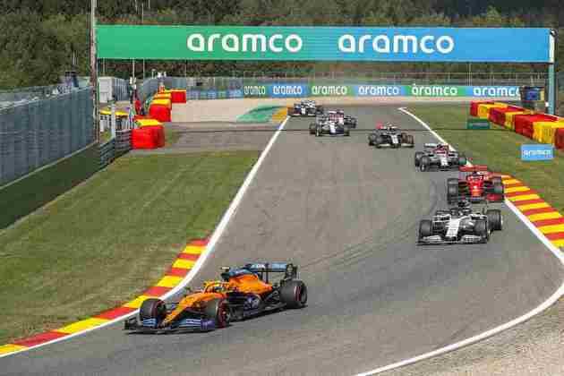 Lando Norris mostrou bom ritmo e terminou em sétimo no GP da Bélgica