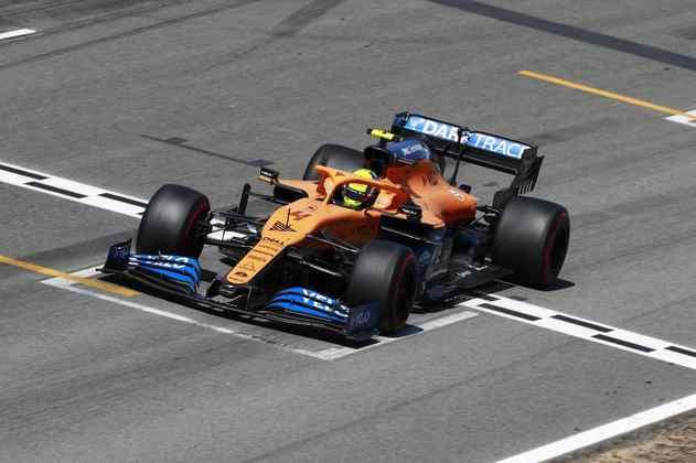 Lando Norris terminou a corrida na décima posição
