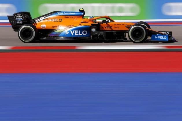 Lando Norris terminou o dia como quinto mais rápido em Sóchi