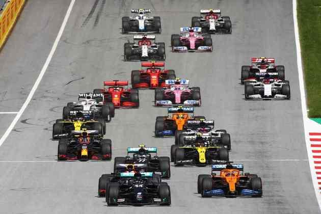 Largada do GP da Estíria de 2020 não teve incidentes na primeira curva