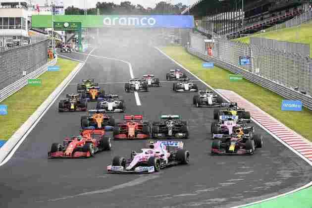 Largada do GP da Hungria 2020 de Fórmula 1