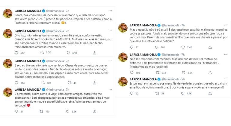 Larissa Manoela nega boatos sobre novo relacionamento