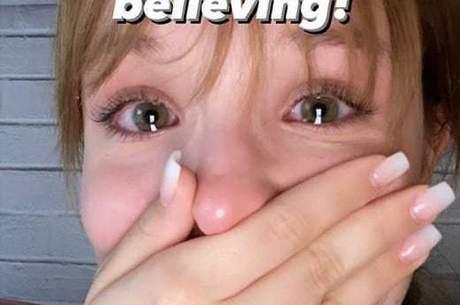 'Não estou acreditando', disse a atriz