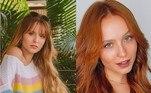 Larissa Manoela define a si mesma como uma camaleoa por causa de suas frequentes mudanças de visual. A atriz já foi loira, morena e ruiva. Há cerca de um mês, ela publicou um vídeo nas redes sociais em que reúne suas diversas transformações.