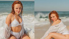 Larissa Manoela posa de biquíni e internet se derrete: 'Perfeitona'