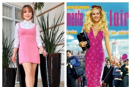 Atriz escolheu vestido rosa parecido com o de Elle