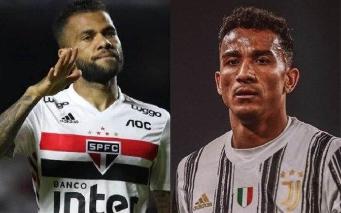 Lateral-direito: Daniel Alves (atualmente no São Paulo) x Danilo (atualmente na Juventus)
