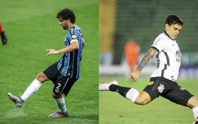 Lateral-direito reserva: Victor Ferraz (atualmente no Grêmio) x Fagner (atualmente no Corinthians)