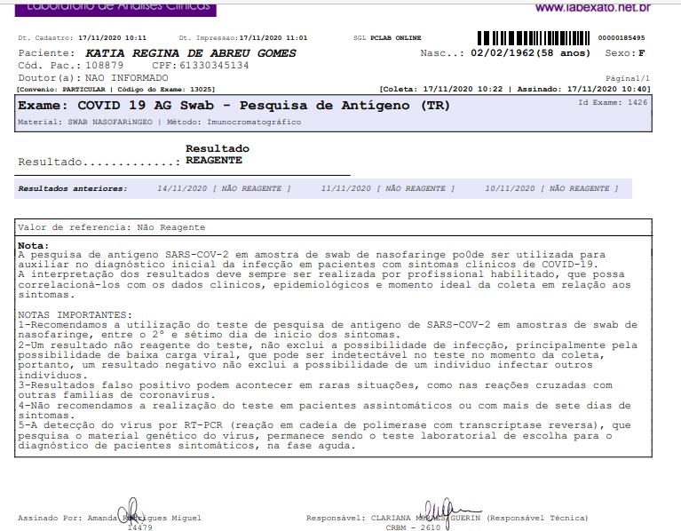 Exame da senadora Kátia Abreu atesta que ela foi infectada pelo coronavírus