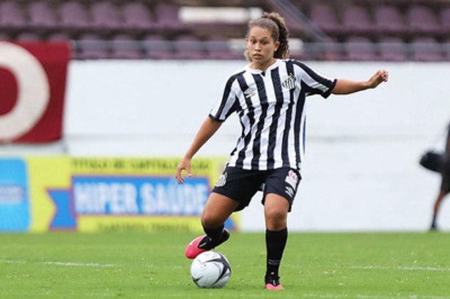 Laura Valverde assinou seu primeiro contrato profissional com o Santos pra 2021