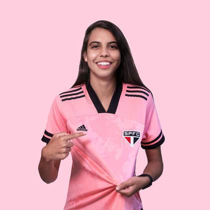 Lauren, também jogadora do São Paulo, foi mais uma atleta nas fotos de divulgação.