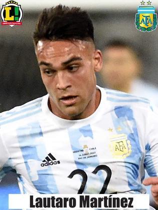 Lautaro Martínez - 5,0 - Atuação discreta. Pouco produziu.