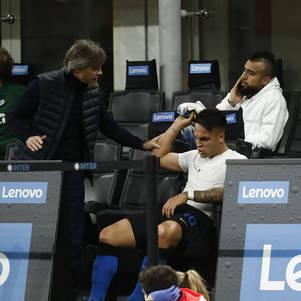Lautaro ficou enfurecido após ser substituído por Conte
